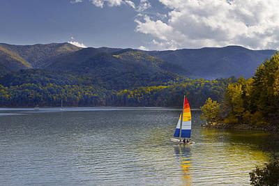 Sailing The Mountain Lakes Art Print