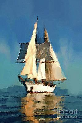 Sailing The Open Seas Art Print