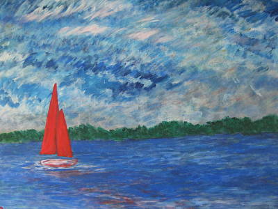 Painting - Sailing The Wind by John Scates