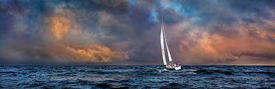 Photograph - Sailing The Wine Dark Sea by Endre Balogh