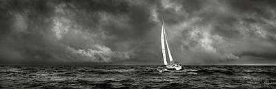 Photograph - Sailing The Wine Dark Sea In Black And White by Endre Balogh