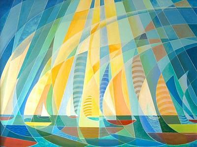 Painting - Sailing Through Sunbeams by Douglas Pike