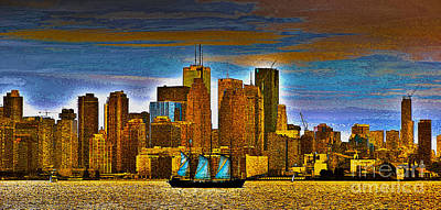 Photograph - Sailing Through The City Of Gold by Nina Silver