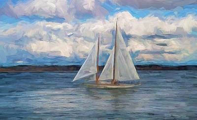 Painting - Sailing Through The Clouds by Dan Sproul