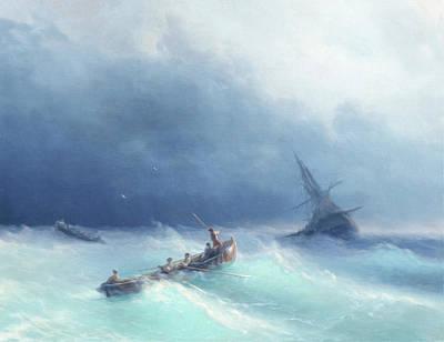 Sailing Through The Storm Art Print