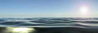 Abstract Beach Landscape Digital Art - Sailing To Paradise by Sir Josef - Social Critic -  Maha Art