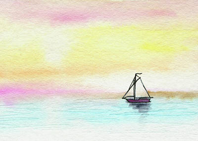 Painting - Sailing To The Sun by R Kyllo