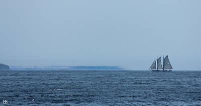 Photograph - Sailing Toward A Mirage by John Meader