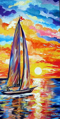 Painting - Sailing Towards My Dreams by Roberto Gagliardi