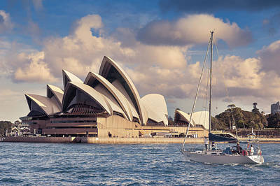Sydney Skyline Photograph - Sailing Towards The Giant by Emanuele Carlisi