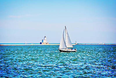 Photograph - Sailing Under A Summer Sky - Milwaukee by Mary Machare