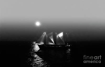 Photograph - Sailing Under Moonlight by Charline Xia