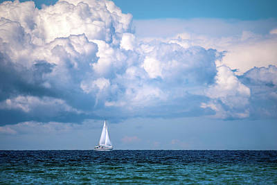 Photograph - Sailing Under The Clouds by Onyonet  Photo Studios