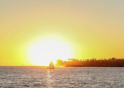 Photograph - Sailing Under The Sunset by Kathleen McGinley