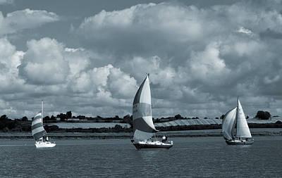 Photograph - Sailing Up River. by Terence Davis