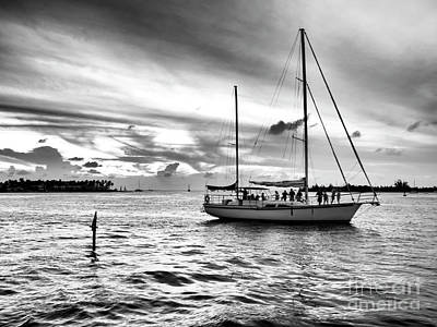 Photograph - Sailing With Friends At Key West by John Rizzuto