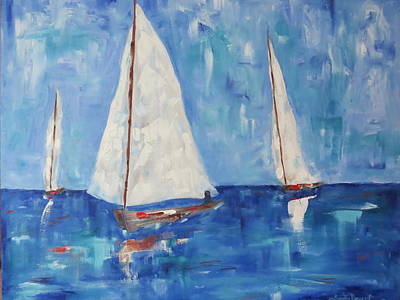 Painting - Sailing With Me by Sandra Reeves