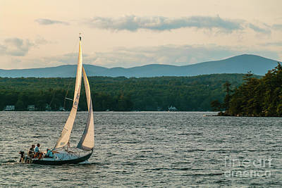 Photograph - Sailing Wolfeboro N H by Mim White
