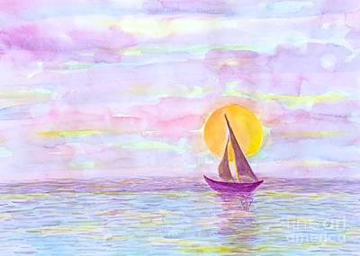 Painting - Sailing  by Wonju Hulse