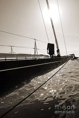Yacht Photograph - Sailing Yacht Hanuman J Boat Bow by Dustin K Ryan