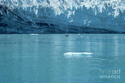 Alaska Photograph - Sailing Yacht In Front Of The Margerie Glacier At Glacier Bay, A by Dani Prints and Images