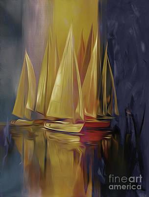 Sailing Yellow Original by Gull G
