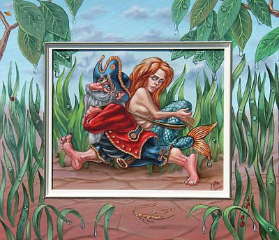 Sailor And Mermaid Art Print