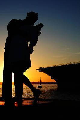 Uss Midway Photograph - Sailor And Nurse by Kelly Wade