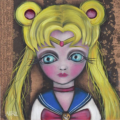 Painting - Sailor Moon by Abril Andrade Griffith
