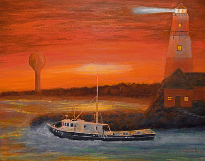 Cape Florida Lighthouse Painting - Sailor's Delight by Ken Figurski