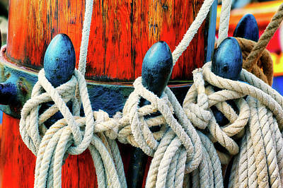 Photograph - Sailor's Ropes by Dee Browning