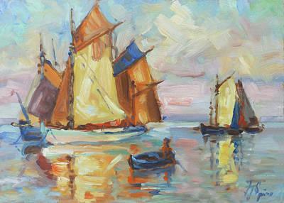 Painting - Sails 1 by Irek Szelag