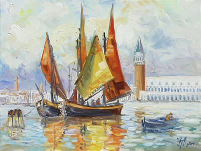 Painting - Sails 10 - Venice San Marco by Irek Szelag