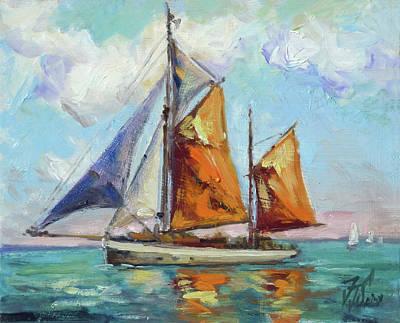 Yacht Painting - Sails 14 by Irek Szelag