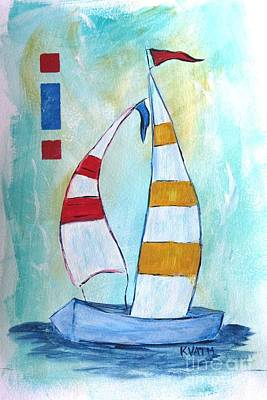 Painting - Sails 2 by Karen Day-Vath