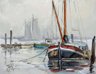 Painting - Sails 5 - Dutch Canal by Irek Szelag