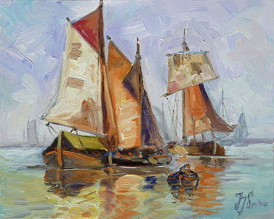 Painting - Sails 7 by Irek Szelag
