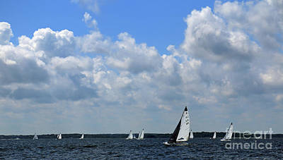 Photograph - Sails And Clouds by Mary Haber