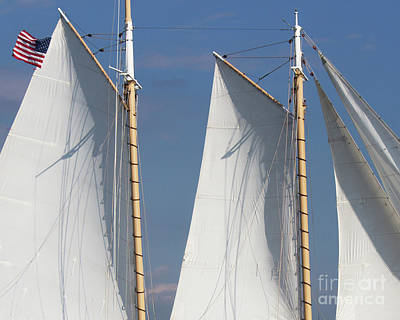 Photograph - Sails And Flag by Cheryl Del Toro