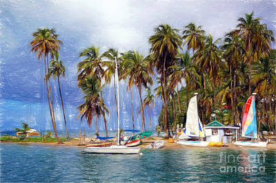 Photograph - Sails And Palms by Sue Melvin