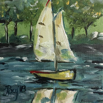 Transportation Painting - Sails And Sails by Roxy Rich
