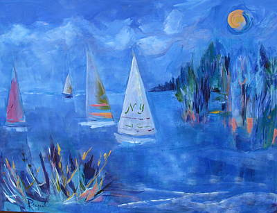 Painting - Sails And Sun by Betty Pieper
