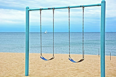 Photograph - Sails And Swings At North Beach Park In Ottawa County, Michigan  by Ruth Hager