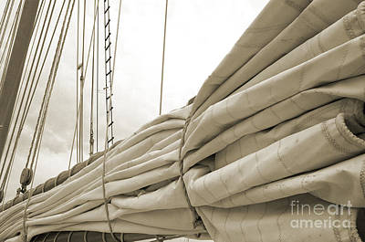 Sails Are Down 2 Art Print