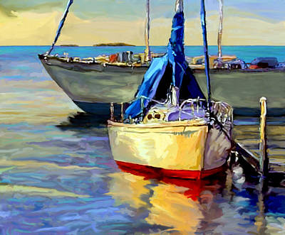 Painting - Sails At Rest by David  Van Hulst