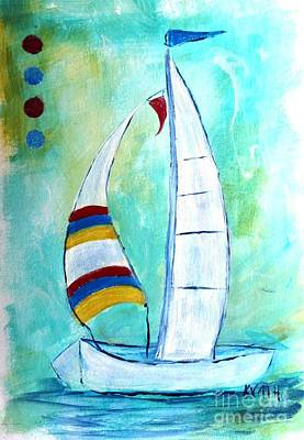 Painting - Sails I by Karen Day-Vath