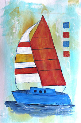 Painting - Sails 3 by Karen Day-Vath