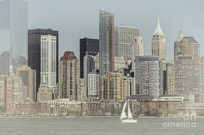 Photograph - Sails On The Hudson by Debra Fedchin