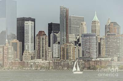 Photograph - Sails On The Hudson by Debra Fedchin