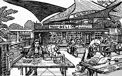 Beer Drawings - Sails over the Common Market by Robert Yaeger